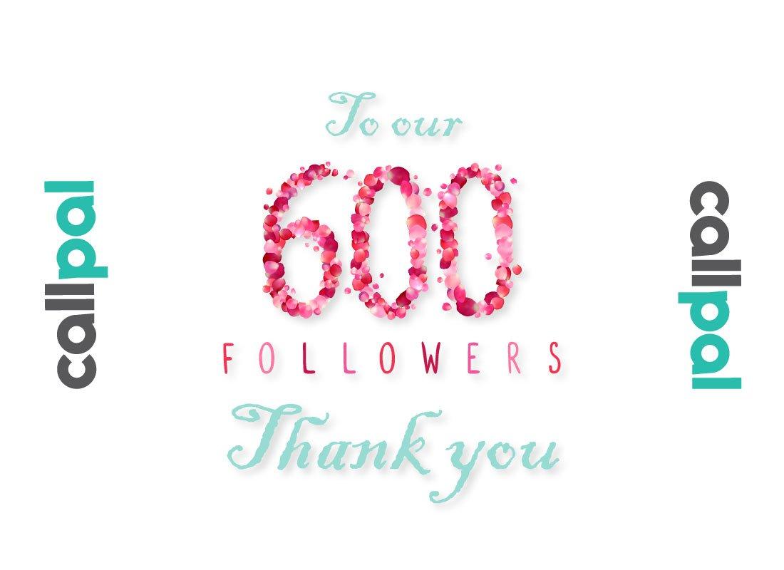600 followers on Instagram